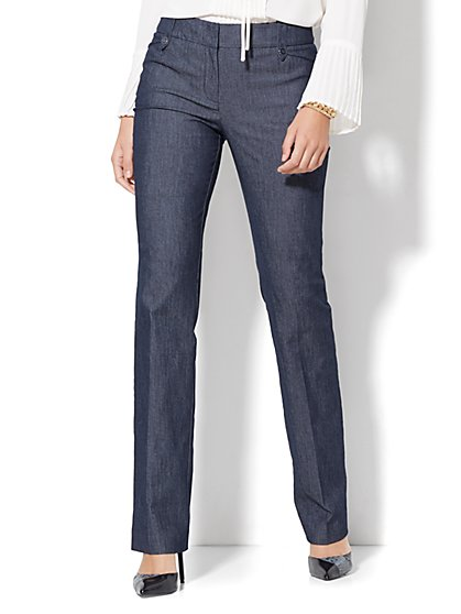 7th Avenue Design Studio - Modern - Leaner Fit - Straight-Leg Pant - Grand Sapphire - Petite  - New York & Company