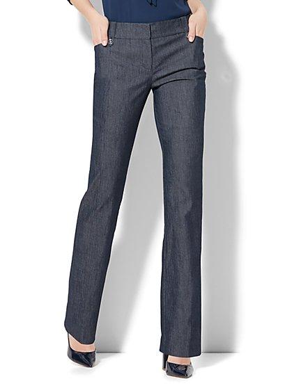 7th Avenue Design Studio - Modern - Leaner Fit - Straight-Leg Pant - Grand Sapphire  - New York & Company