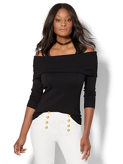 7th Avenue Design Studio - Off-The-Shoulder Sweater  - New York & Company
