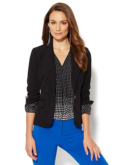 7th Avenue Design Studio One-Button Jacket - Signature Fit - Double Stretch - New York & Company