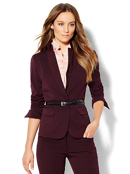 7th Avenue Design Studio - One-Button Jacket - Signature Fit - SuperStretch - New York & Company