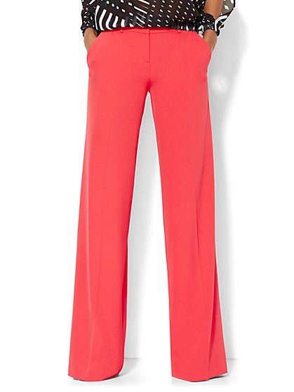 7th Avenue Design Studio Palazzo Pant - Modern Fit - Solid  - New York & Company