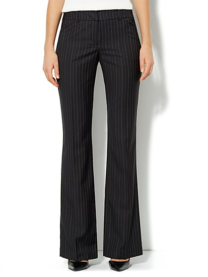 7th Avenue Design Studio Pant - Bootcut - Pinstripe - Tall - New York & Company
