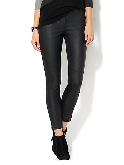 7th Avenue Design Studio Pant - Legging - Faux-Leather & Ponte - New York & Company
