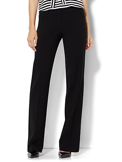 7th Avenue Design Studio Pant - Modern Fit - Bootcut - Black - Double Stretch - Tall - New York & Company