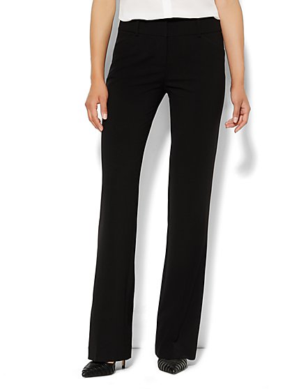 7th Avenue Design Studio Pant - Modern Fit - Bootcut - Black - Double Stretch - New York & Company