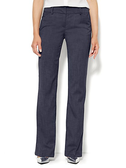 7th Avenue Design Studio Pant - Modern Fit - Bootcut - Navy - Tall  - New York & Company