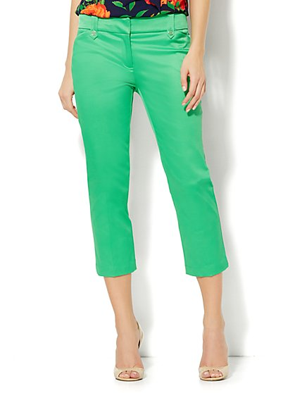 7th Avenue Design Studio Pant - Modern Fit - Crop - Optic Twill - New York & Company