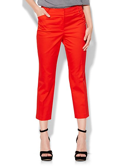 7th Avenue Design Studio Pant - Modern Fit - Crop - Solid - New York & Company