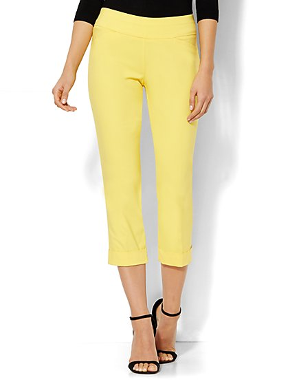 7th Avenue Design Studio Pant - Modern Fit - Cuffed Crop - Pull On - Ultra Stretch - New York & Company