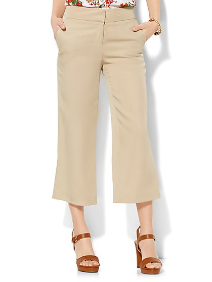 7th Avenue Design Studio Pant - Modern Fit - Culotte - Solid  - New York & Company