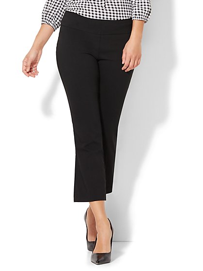 7th Avenue Design Studio Pant - Modern Fit - Kick Crop - Pull On - Ultra Stretch - New York & Company