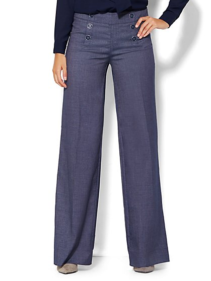 7th Avenue Design Studio Pant - Modern Fit - Sailor Pant - Grand Sapphire - New York & Company