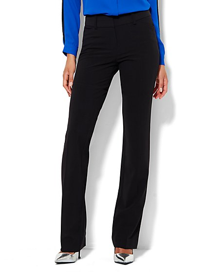 7th Avenue Design Studio Pant - Modern Fit - Straight - Black - Petite  - New York & Company