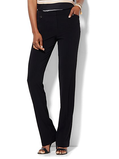 7th Avenue Design Studio Pant - Modern Fit - Straight Leg - Double Stretch - Petite - New York & Company