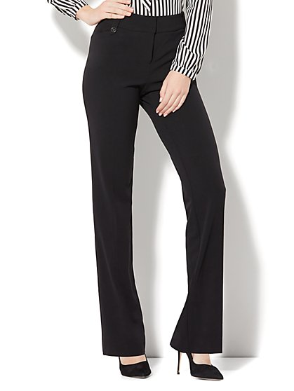 7th Avenue Design Studio Pant - Modern Fit - Straight Leg - Double Stretch - New York & Company