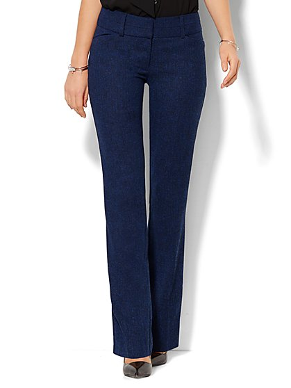 7th Avenue Design Studio Pant - Modern Fit - Straight Leg - Grand Sapphire - New York & Company
