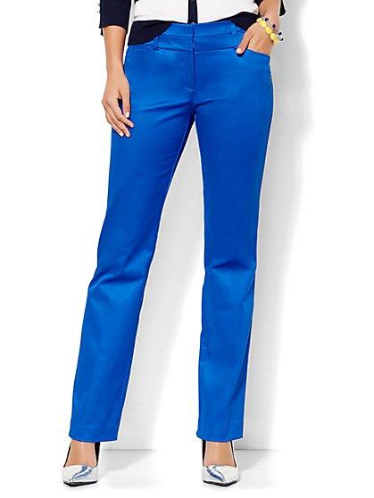 7th Avenue Design Studio Pant - Modern Fit - Straight Leg - Optic Twill - New York & Company