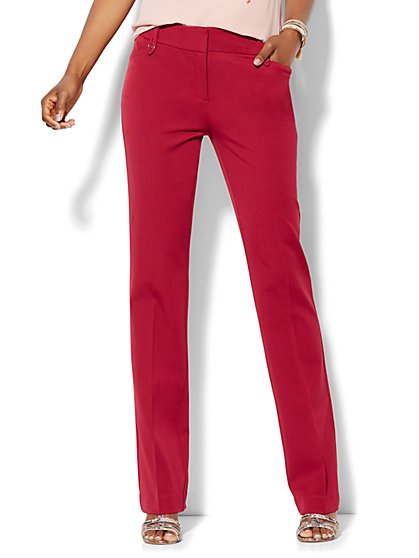 7th Avenue Design Studio Pant - Modern Fit - Straight Leg - Superstretch - Petite - New York & Company