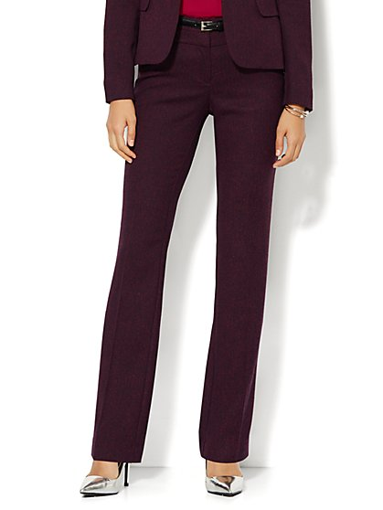 7th Avenue Design Studio Pant - Modern Fit - Straight Leg- Tweed  - New York & Company