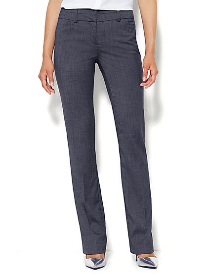 7th Avenue Design Studio Pant - Modern Fit - Straight - Navy - Petite  - New York & Company