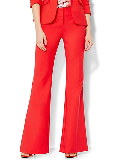 7th Avenue Design Studio Pant - Modern Fit - Trouser - Fireworks Red - New York & Company