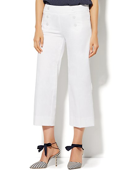 7th Avenue Design Studio Pant - Modern - Leaner Fit - Sailor Crop - Optic Twill - New York & Company