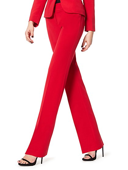 7th Avenue Design Studio Pant - Modern - Leaner Fit - Straight Leg - Double Stretch - New York & Company