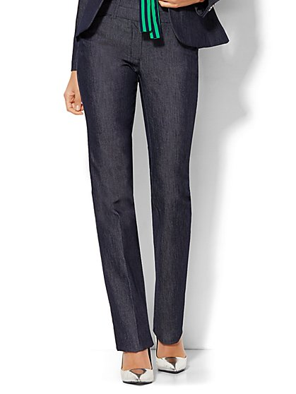 7th Avenue Design Studio Pant - Modern - Leaner Fit - Straight Leg - Grand Sapphire - New York & Company