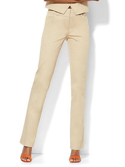 7th Avenue Design Studio Pant - Modern - Leaner Fit - Straight Leg - Petite  - New York & Company