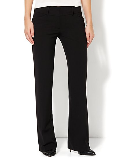 7th Avenue Design Studio Pant - Runway Fit - Bootcut - Black - Double Stretch - New York & Company