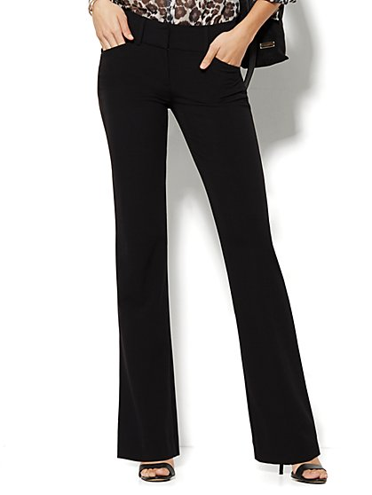 7th Avenue Design Studio Pant - Runway Fit - Bootcut - Black - Petite - New York & Company
