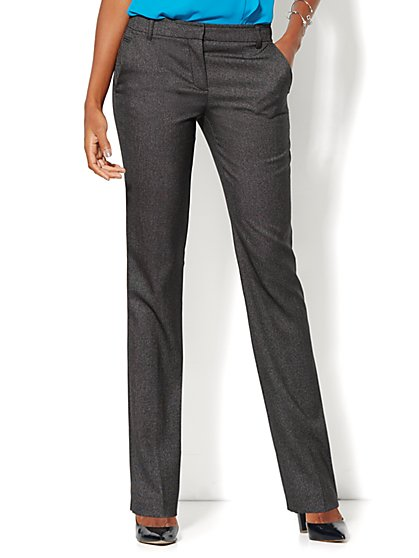 7th Avenue Design Studio Pant - Runway Fit - Slim Leg - Black - New York & Company