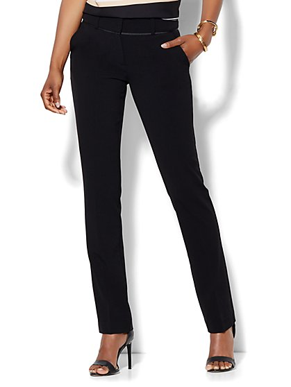 7th Avenue Design Studio Pant - Runway Fit - Slim Leg - Double Stretch - Tall - New York & Company