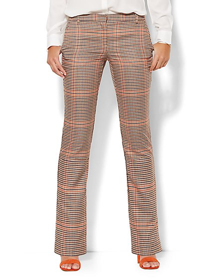 7th Avenue Design Studio Pant - Runway Fit - Slim Leg - Plaid  - New York & Company