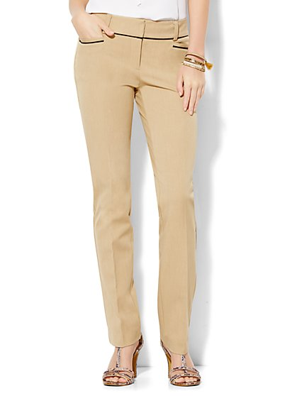 7th Avenue Design Studio Pant - Runway - Slimmest Fit - Piped - Classic Camel - New York & Company
