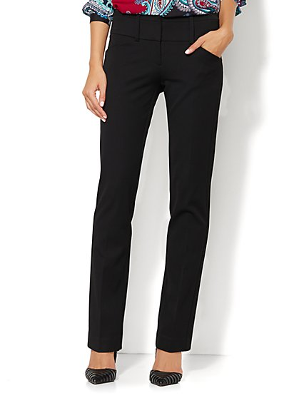 7th Avenue Design Studio Pant - Runway - Slimmest Fit - Slim Leg SuperStretch - Petite - New York & Company