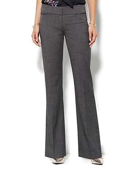 7th Avenue Design Studio Pant - Signature Fit - Bootcut - Black Check - Tall - New York & Company