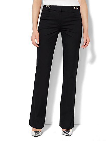 7th Avenue Design Studio Pant - Signature Fit - Bootcut - Cotton - Petite - New York & Company