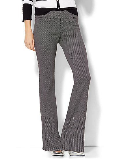7th Avenue Design Studio Pant - Signature Fit - Bootcut - Dot Print  - New York & Company