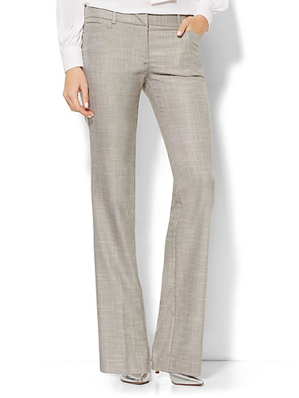 7th Avenue Design Studio Pant - Signature Fit - Bootcut - Driftwood - Tall   - New York & Company