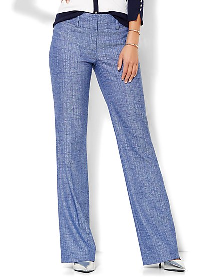 7th Avenue Design Studio Pant - Signature Fit - Bootcut - Grand Sapphire - Petite  - New York & Company