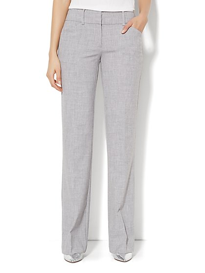 7th Avenue Design Studio Pant - Signature Fit - Bootcut- Grey - Petite - New York & Company