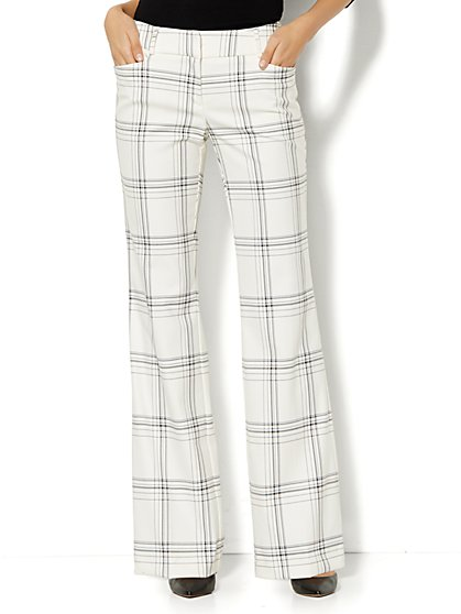 7th Avenue Design Studio Pant - Signature Fit - Bootcut - Plaid  - New York & Company