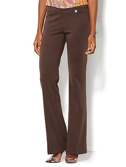 7th Avenue Design Studio Pant - Signature Fit - Bootcut Pull-On - Ponte - Petite - New York & Company