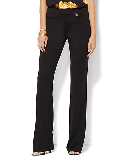 7th Avenue Design Studio Pant - Signature Fit - Bootcut Pull-On - Ponte - Tall - New York & Company