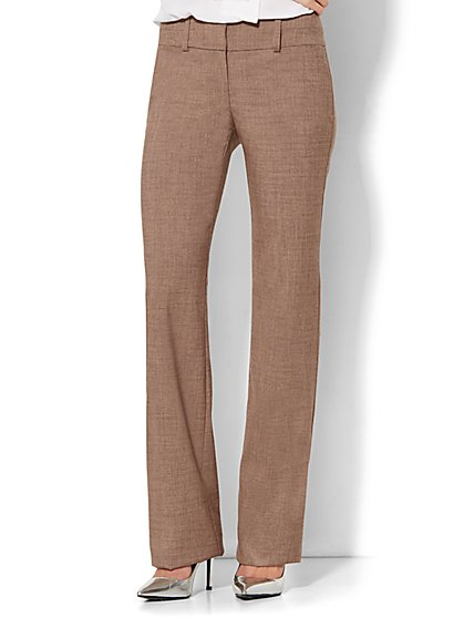 7th Avenue Design Studio Pant - Signature Fit - Bootcut - Solid - Petite - New York & Company