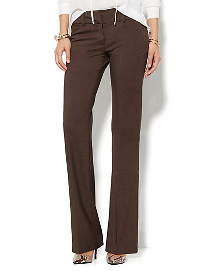 7th Avenue Design Studio Pant - Signature Fit - Bootcut - Solid - Tall - New York & Company