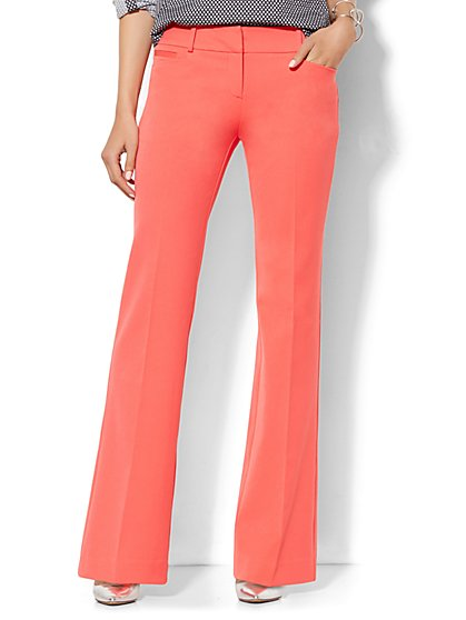 7th Avenue Design Studio Pant - Signature Fit - Bootcut - Superstretch - Coral Zest  - New York & Company
