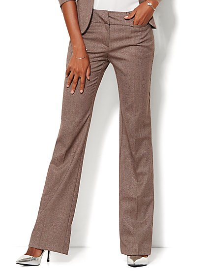 7th Avenue Design Studio Pant - Signature Fit - Bootcut - Tweed - New York & Company
